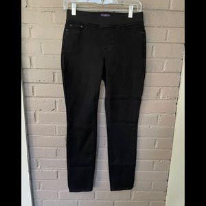 NYDJ   Pull on black skinny jeans 0P NWOT